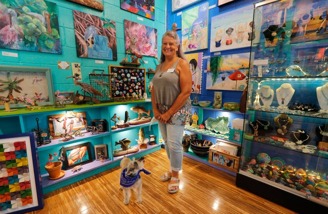 Peggy McTeague, artist and owner, established  WildChild Art Gallery in 2000.