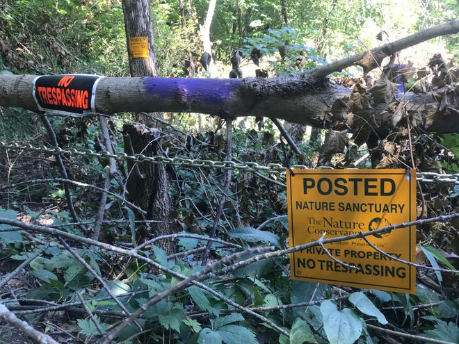 In early July, The Nature Conservancy took down trees and put up chains to block the entrance to Fall Creek Gorge, a popular nature preserve in Warren County, after the property was being overused and filled with litter.