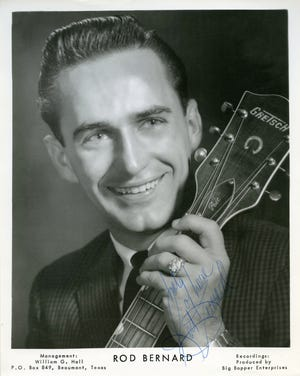 Swamp pop musician and broadcaster Rod Bernard died Sunday at79 years old. Born on August 12, 1940, to French-speaking Cajuns parents,Bernard learned to play guitar, sing, and yodel from a young age.At 10 years old,Opelousas-born Bernard joined the Cajuncountry-western group The Blue Room Gang.