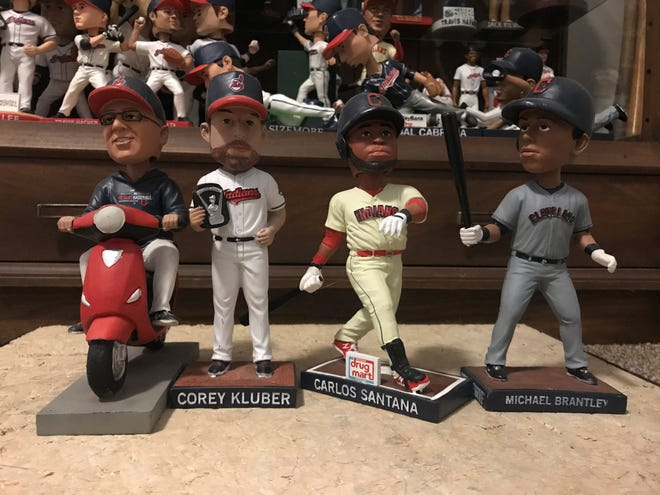 The Cleveland Indians bobblehead stadium giveaways include Terry Francona, Corey Kluber, Carlos Santana and Michael Brantley.