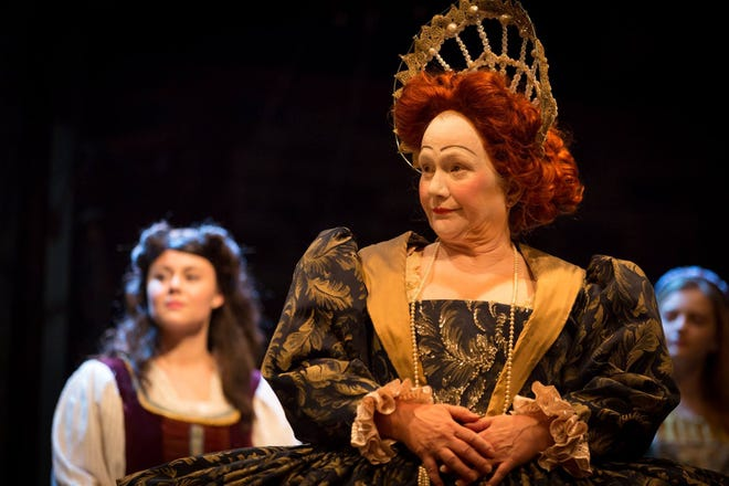 "In case you can't tell from this picture of her as Queen Elizabeth in a Playhouse on the Square production of ""Shakespeare in Love,"" this year's winner of the Memphis theater lifetime achievement award, Ann Marie Hall, is considered  a queen of the local stage."