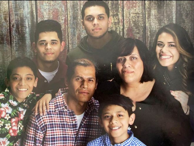 Isidro and Sandra Vega Quintero lost their lives after a traffic accident July 10. They are survived by five children seen in this family photo(from left, back row) Christian, Alejandro, (from left, front row) Kevin, Isidro, Diego, Sandra and Dayanne.