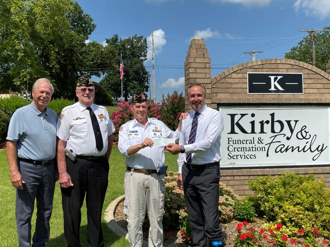 The Veterans Suicide Prevention Program received a $3,500 grant on July 7 from the Gretchen and Alfred Pederson Veteran Endowment. This endowment was set up through the Twin Lakes Community Foundation. Pictured above from left to right are Elton Kirby, Dan Hall, George Wolford and Jason Kirby.