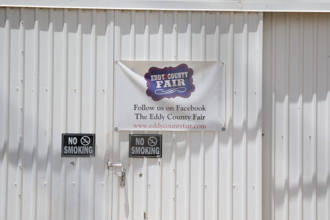 The front door to the Eddy County Fair Exhibit Building will remain locked until next year. The 2020 Eddy County Fair has been called off until next year.
