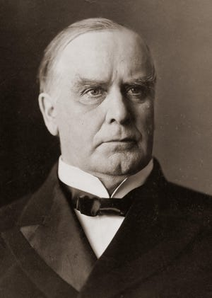 William McKinley was the 25th President of the United States, serving from Mach 4, 1897, until his assassination six months later into his second term, on Sept. 6, 1901. He lingered for eight days.