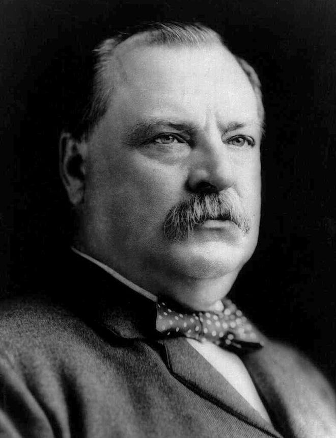 Out Of Our Past President Grover Cleveland Drew 1000s To Depot Stop