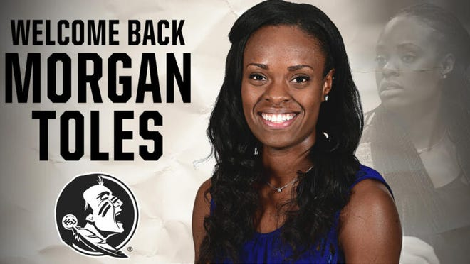 FSU announced the hire of Morgan Toles, a former FSU player and graduate assistant, as its new assistant coach Monday.