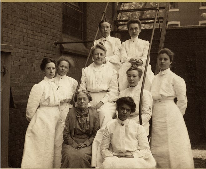"""""""Daring Women Doctors: Physicians in the 19th Century,"""" airing nationally on more than 90 percent of PBS stations throughout July. Interns at the Woman's Medical College of Pennsylvania."""
