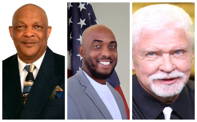 Wyllie (left); Monds Jr. (center); and Kelly are vying to fill the St. Lucie County District 2 School Board seat come August.