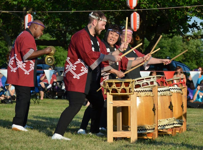 Hoh Daiko drummers from Seabrook Buddhist Temple perform taiko drumming during a previous Obon Festival. This year's festival will be presented in a drive-thru format because of COVID-19.