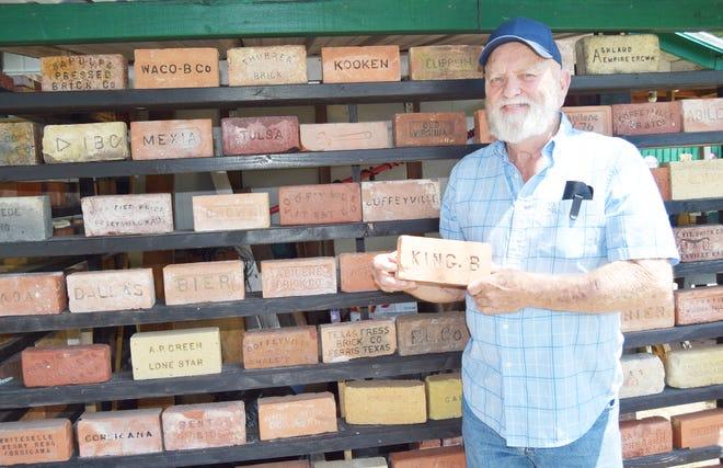 Tom Cate loves collecting unique antique bricks.