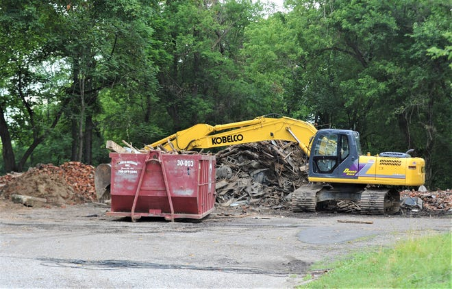 The Zane Trace Inn was torn down, as the remnants are still on the property as of Monday. The former building had a long history in the township.
