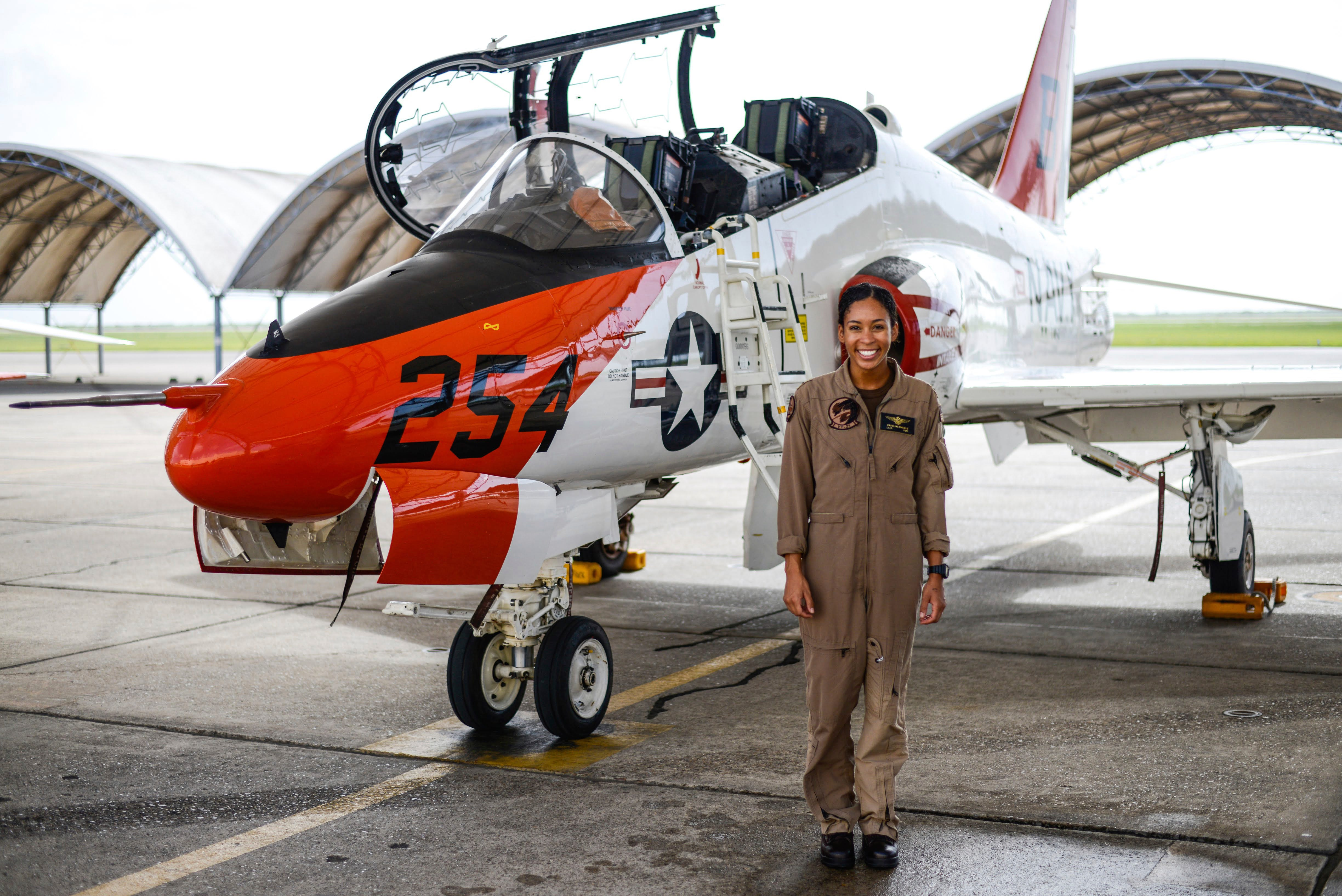 Madeline Swegle Becomes U.S. Navy's First Black Female Fighter Pilot