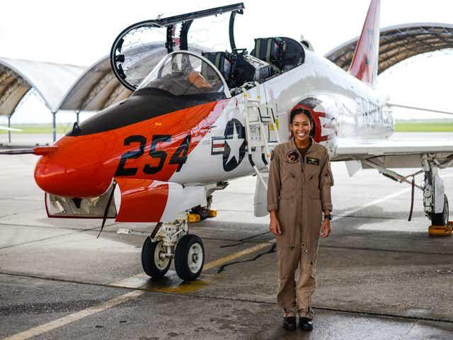 Madeline Swegle becomes Navy's first Black female fighter pilot
