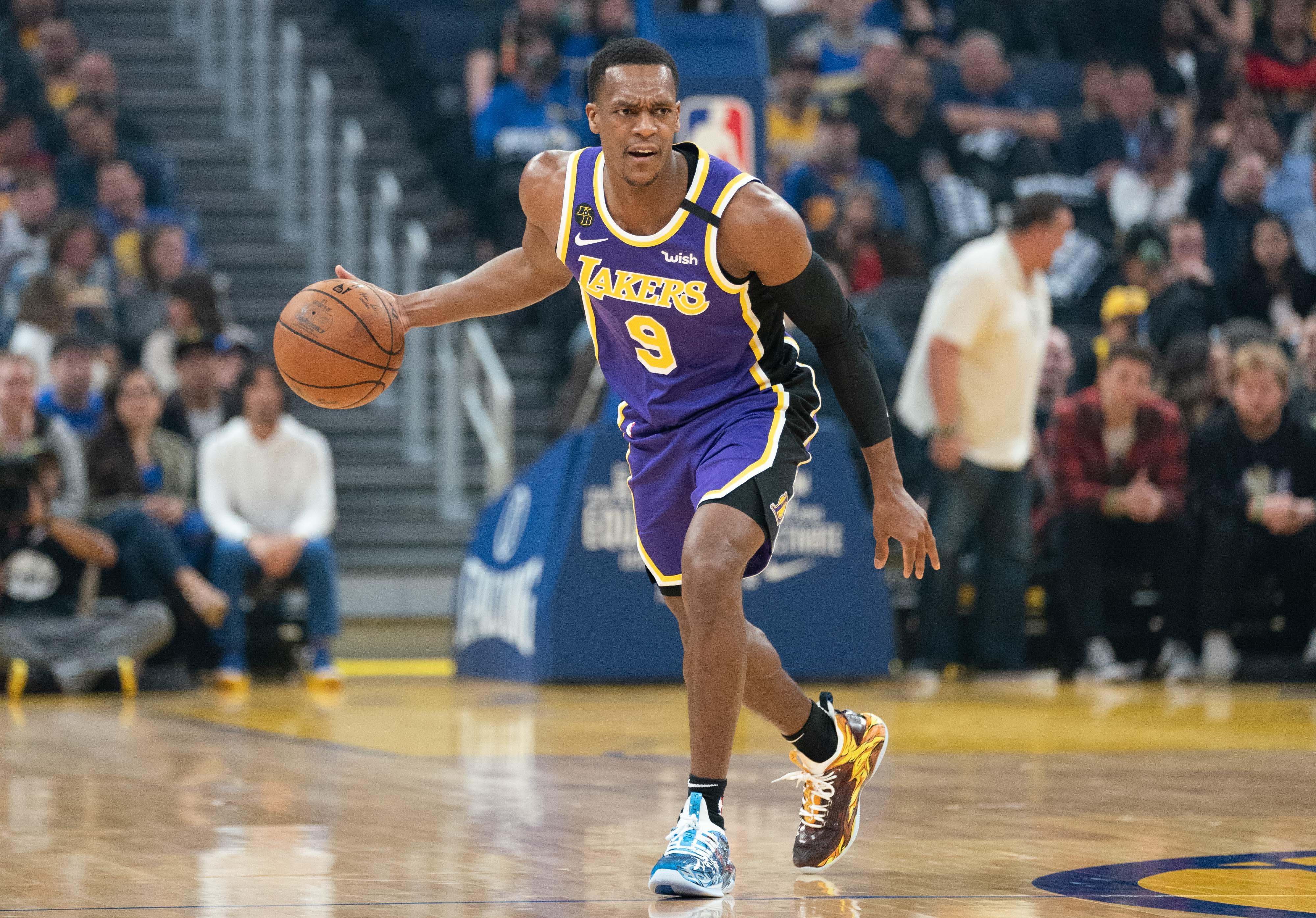 Los Angeles Lakers Guard Rajon Rondo Breaks Thumb At Practice