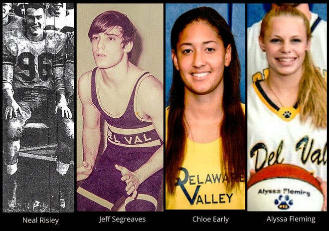 Delaware Valley's Neal Risley, Jeff Seagreaves, Chloe Early and Alyssa Fleming will be inducted into the Terrier's Hall of Fame on Sept. 26.