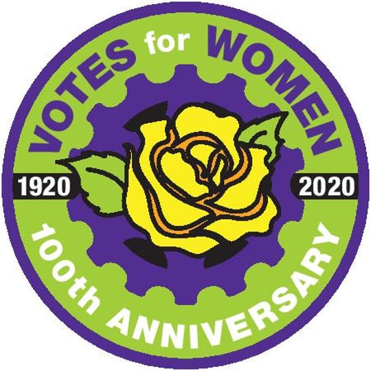 Votes for Women patch that will be handed out on RAGBRAI 2021.