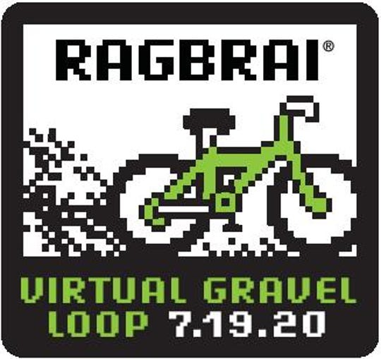 Gravel Loop patch that will be handed out on RAGBRAI 2020.