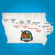 Can you guess all of the meeting towns for RAGBRAI XLVIII?  Visit each day for another clue.