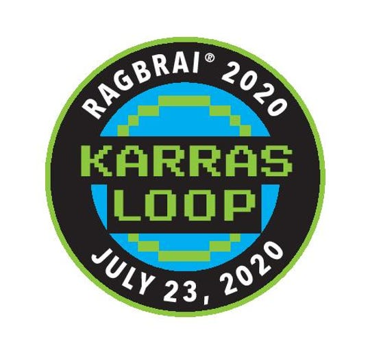 Karras Loop patch that will be handed out on RAGBRAI 2020