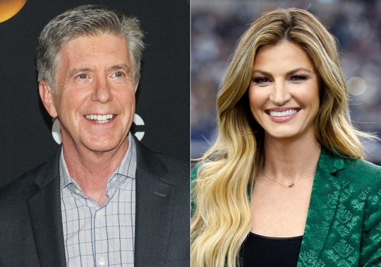 """""""Dancing With the Stars"""" co-hosts, Tom Bergeron, left, and Erin Andrews who will not be returning to the popular celebrity dance competition series."""