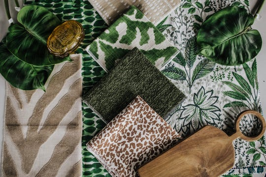 When introducing daring patterns and textures in the same look, it can quickly go from maximalist chic to loud mess. The key is adding simple linens and muted, warm neutrals to the mix. (Handout/TNS)