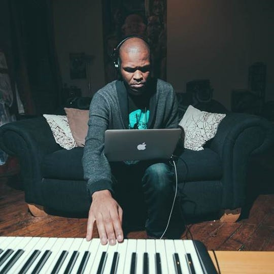 Visual artist and musician Sterling Toles at his home.