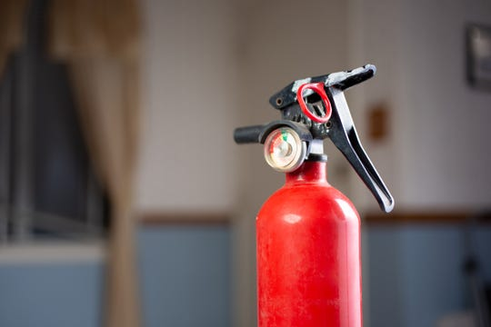 A fire extinguisher is a vital home safety tool. Make sure everyone in your household knows where it is and how to use it.