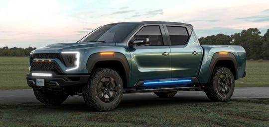 Nikola claims their Badger fully-electric and hydrogen fuel cell electric pickup truck can travel from 0-60 in 2.9 seconds with 906 peak horsepower.