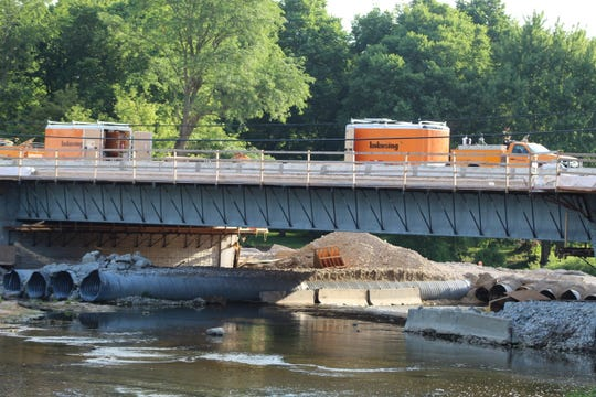 The Elmore bridge is expected to be open to vehicle traffic later this month, according to the Ohio Department of Transportation.