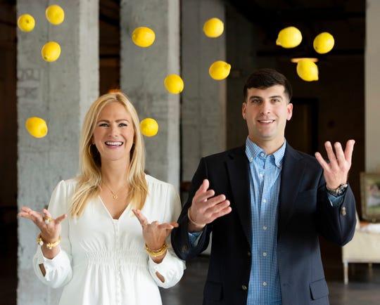 Jenny Woods and her fiance Cooper Lemons