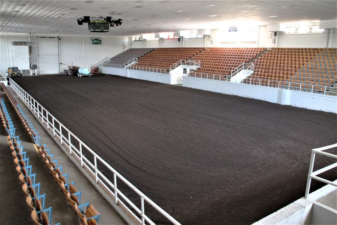All was quiet at Veterans Memorial Coliseum on Tuesday, July 14, 2020, but the arena will be buzzing - and mooing - with excitement on Saturday when the Marion County Junior Fair Livestock Shows kick off a week-long run. 4-H supporters and participants have been working hard since early May to prepare for the modified version of the fair. The traditional county fair was canceled due to the coronavirus pandemic.