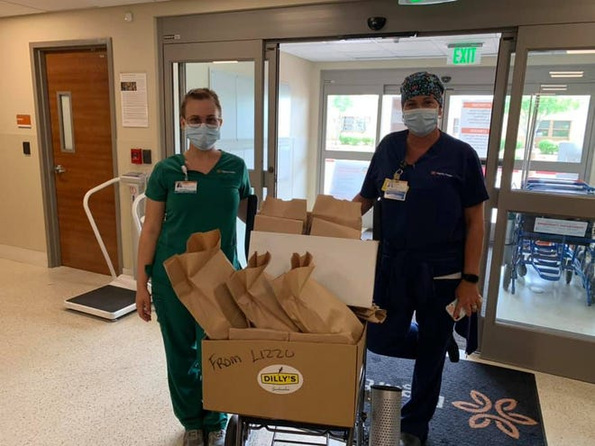 Lizzo, a Grammy award-winning rapper and singer, bought lunch for Chandler health care workers fromDilly's Sandwiches in Tempe.