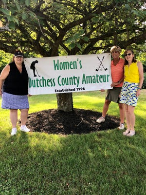 Organizers Dana Capuano, Karen Stauderman and Maryanne Ceriello pose during the Women's Dutchess County Amateur golf tournament at Casperkill Golf Club on July 13.