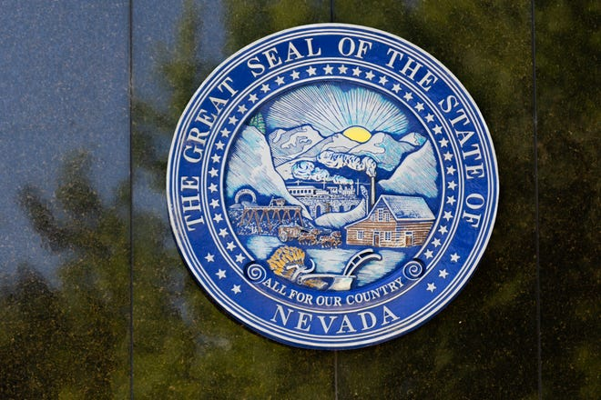 Morning outside the Nevada State Legislature on the fifth day of the 31st Special Session in Carson City, Nev., on Monday, July 13, 2020. (Trevor Bexon/Nevada Independent)