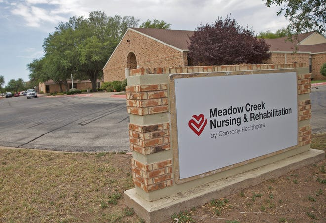 The Meadow Creek Nursing and Rehabilitation facility, seen here in this Tuesday, July 14, 2020 photo, has created the first covid-19 isolation unit in San Angelo for patients recovering from the coronavirus.