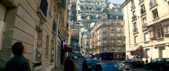 """The streets of Paris are folded on top of one another in one of the most memorable scenes in """"Inception."""""""