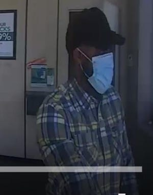 Covington Police are searching for a suspect they say robbed a Covington business Wednesday morning.