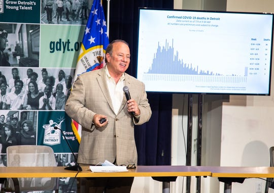 Mayor Mike Duggan shares details on a citywide memorial day Aug. 31 to honor residents who have died from COVID-19.