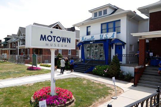 The Motown Museum is seen, Wednesday, July 15, 2020, in Detroit. The building where Berry Gordy Jr. built his music empire reopened its doors to the public on Wednesday. It had been closed since March due to the coronavirus pandemic.
