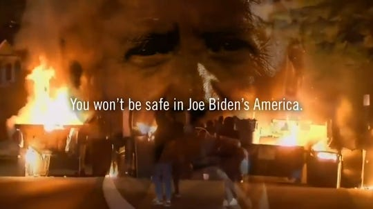 President Donald Trump has opened a new attack on Democrat Joe Biden, suggesting that his policies will endanger Americans' lives. The attack conflates ideas about defunding police and abolishing ICE held by some progressives with Biden's centrist policy approach.