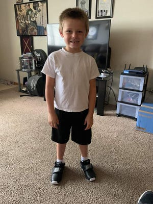 The last photo of Jayden Thomas Kaufman was taken on Saturday, after his grandfather Duane Kaufman had taken him shopping for a new pair of Nike shoes.