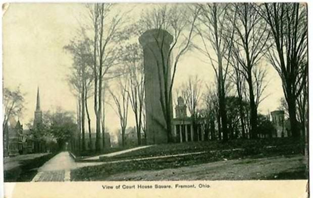 In 1845 land was purchased for Court House Square shown on this post card.