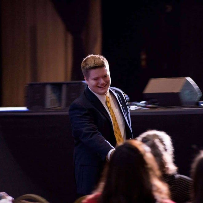 Lexington High School's rising senior Dalton French was elected National Beta Club president. He's pictured in Nashville at the state convention when he was elected Tennessee State Beta Club president.