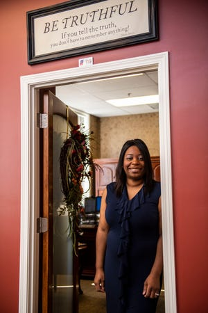Director for Head Start for Northwest Tennessee Rakaya Humphreys at her office, in McKenzie, Tenn., Tuesday, July 14, 2020.  Humphreys has gone through a journey from being homeless, being a member of the Army Reserves, and being the head director of Head Start for Northwest Tennessee.