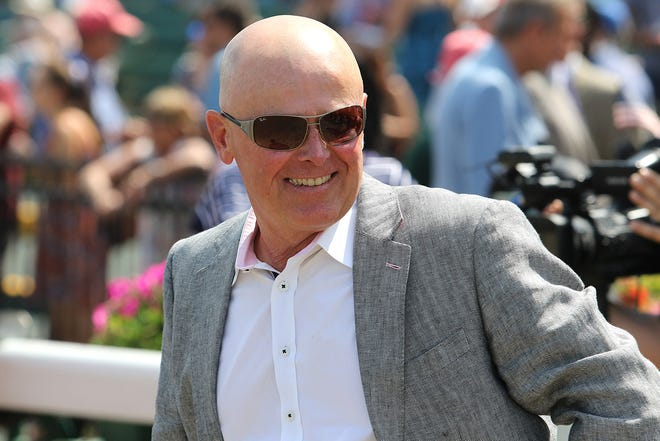 Trainer Michael Stidham has the favorite for Thursday's Peter Pan Stakes in Mystic Guide.