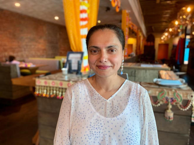 """TV celeb chef Maneet Chauhan in her flagship Nashville restaurant: """"Coming from New York and Chicago where I am used to diversity galore, I was almost hesitant about what I would find in Nashville. And Nashville gave me a pleasant surprise. """""""