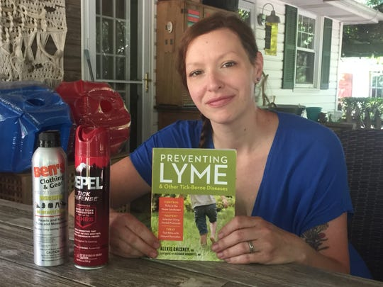 Kimberly Byce and some of the resources and tools she and her north Granville family employ in their effort to protect themselves from Lyme disease-carrying ticks.