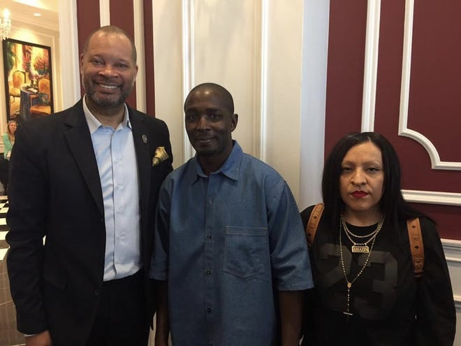 The Nevada Attorney General's Office on Wednesday said DeMarlo Berry is the first person to receive a certificate of his innocence and compensation for wrongful imprisonment under a new state law passed last year. Photograph from June 30, 2017, the day after DeMarlo Berry (middle) was released from prison.