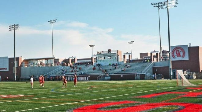 Braves Field at Canandaigua Academy features the logo used for sports teams and activities in the district.